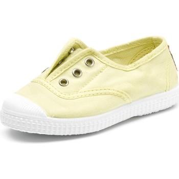 Scarpe Unisex bambino Tennis Cienta Chaussures en toiles bébé  Tintado jaune pastel