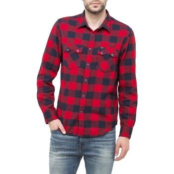 Abbigliamento Uomo Camicie maniche lunghe Lee L856C rosso