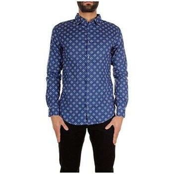 Abbigliamento Uomo Camicie maniche lunghe Armani jeans C6C24MC blue