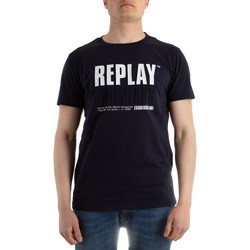 Abbigliamento Uomo T-shirt & Polo Replay M341322880 blu