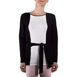Abbigliamento Donna Gilet / Cardigan Lineaemme Marella 53660199 nero