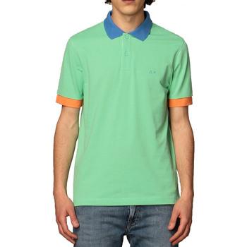 Abbigliamento Uomo Polo maniche corte Sun68 A31112 verde chiaro