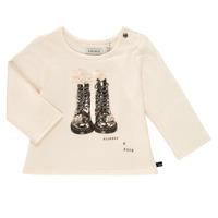 Abbigliamento Bambina T-shirts a maniche lunghe Ikks PAON Bianco