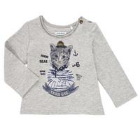 Abbigliamento Bambina T-shirts a maniche lunghe Ikks PERSAN Grigio