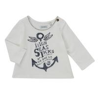 Abbigliamento Bambina T-shirts a maniche lunghe Ikks CHOCOLAT Bianco