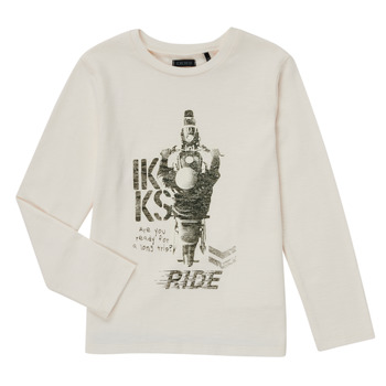 Abbigliamento Bambino T-shirts a maniche lunghe Ikks CERISE Bianco