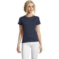 Abbigliamento Donna T-shirt maniche corte Sols Camiseta IMPERIAL FIT color French Marino Azul