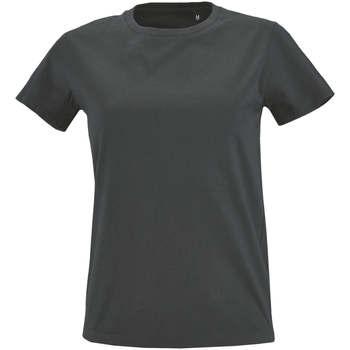 Abbigliamento Donna T-shirt maniche corte Sols Camiseta IMPERIAL FIT color Gris oscuro Gris