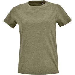 Abbigliamento Donna T-shirt maniche corte Sols Camiseta IMPERIAL FIT color Caqui Kaki
