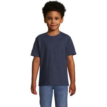 Abbigliamento Unisex bambino T-shirt maniche corte Sols Camista infantil color French Marino Azul