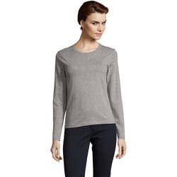 Abbigliamento Donna T-shirts a maniche lunghe Sols Camiseta imperial Women Gris