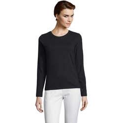 Abbigliamento Donna T-shirts a maniche lunghe Sols Camiseta imperial Women Negro