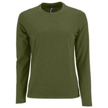 Abbigliamento Donna T-shirts a maniche lunghe Sols Camiseta imperial Women Kaki