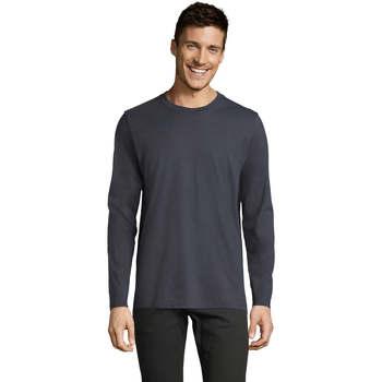 Abbigliamento Uomo T-shirts a maniche lunghe Sols Camiseta manga larga Gris