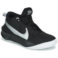 Scarpe Unisex bambino Sneakers alte Nike TEAM HUSTLE D 10 (GS) Nero / Argento