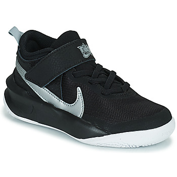 Scarpe Unisex bambino Sneakers alte Nike TEAM HUSTLE D 10 (PS) Nero / Argento