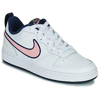 Scarpe Unisex bambino Sneakers basse Nike COURT BOROUGH LOW 2 SE1 (GS) Bianco / Rosa