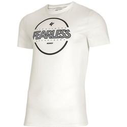 Abbigliamento Uomo T-shirt maniche corte 4F TSM015 Bianco