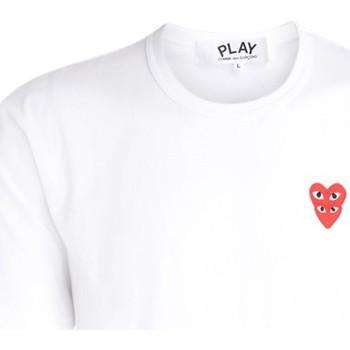 Abbigliamento Uomo T-shirt maniche corte Comme Des Garcons T-Shirt da uomo  bianca con cuori Bianco