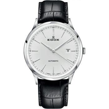 Orologi & Gioielli Uomo Orologio Analogico Edox 80106-3C-AIN, Automatic, 42mm, 5ATM Argento