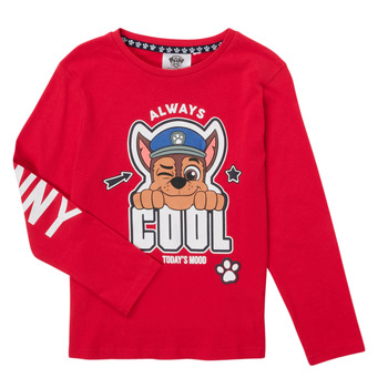 Abbigliamento Bambino T-shirts a maniche lunghe TEAM HEROES  TEE PAW PATROL Rosso