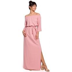 Abbigliamento Donna Abiti lunghi Be B146 Maxi abito off- shoulder - rosa