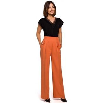 Abbigliamento Donna Pantaloni morbidi / Pantaloni alla zuava Style S203 Pantaloni palazzo con vita elasticizzata - arancione