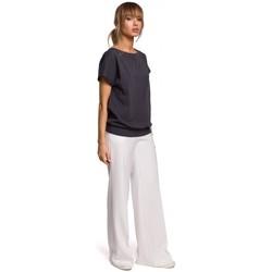 Abbigliamento Donna Top / Blusa Moe M498 Top a maniche corte avvolgente - acciaio