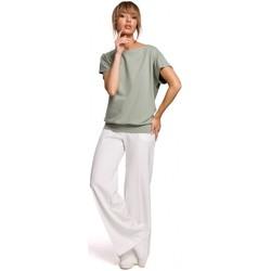 Abbigliamento Donna Top / Blusa Moe M498 Top a maniche corte avvolgente - pistacchio