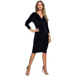 Abbigliamento Donna Abiti corti Moe M561 Vestito con top in velluto - blu navy