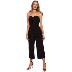 Abbigliamento Donna Tuta jumpsuit / Salopette Moe M571 Tuta senza spalline - nero
