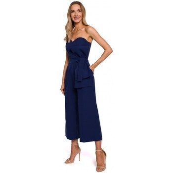 Abbigliamento Donna Tuta jumpsuit / Salopette Moe M571 Tuta senza spalline - blu navy