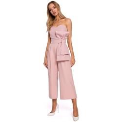 Abbigliamento Donna Tuta jumpsuit / Salopette Moe M571 Tuta senza spalline - cipria