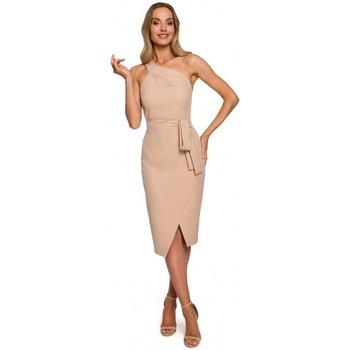 Abbigliamento Donna Abiti lunghi Moe M572 Vestito con cinturino singolo - beige