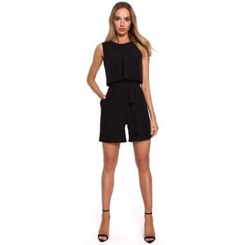 Abbigliamento Donna Tuta jumpsuit / Salopette Moe M574 Pagliaccetto senza maniche a doppio strato - nero