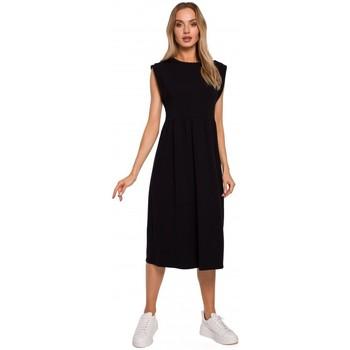Abbigliamento Donna Abiti lunghi Moe M581 Vestito senza maniche a vita alta - nero