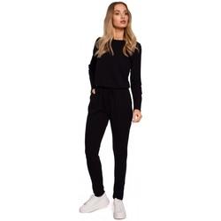 Abbigliamento Donna Tuta jumpsuit / Salopette Moe M583 Tuta in maglia con tasca applicata - nero