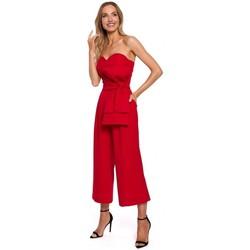 Abbigliamento Donna Tuta jumpsuit / Salopette Moe M571 Tuta senza spalline - rosso