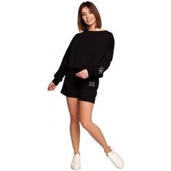 Abbigliamento Donna Shorts / Bermuda Be B186 Pantaloncini con ricamo - nero