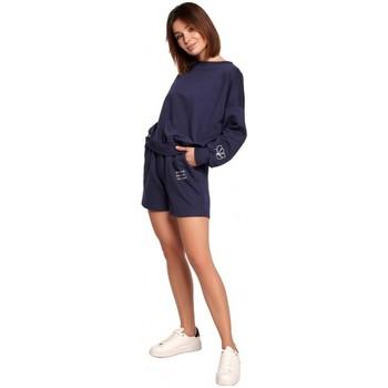 Abbigliamento Donna Shorts / Bermuda Be B186 Pantaloncini con ricamo - blu