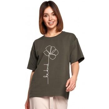 Abbigliamento Donna Top / Blusa Be B187 - T-shirt con stampa floreale - verde militare