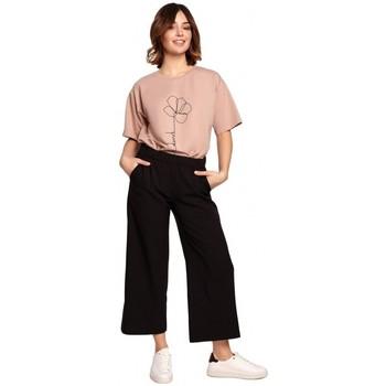 Abbigliamento Donna Pantaloni morbidi / Pantaloni alla zuava Be B188 Culottes con elastico in vita - nero