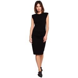 Abbigliamento Donna Abiti corti Be B193 Vestito aderente con lati increspati - nero