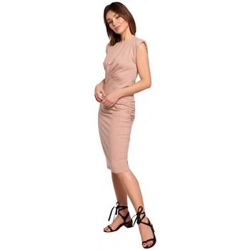 Abbigliamento Donna Abiti corti Be B193 Vestito aderente con lati increspati - mocca