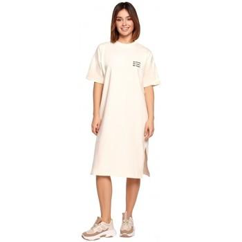 Abbigliamento Donna Abiti corti Be B194 - Vestito T-shirt dal taglio rilassato - crema