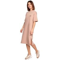 Abbigliamento Donna Abiti corti Be B194 - Vestito T-shirt dal taglio rilassato - mocca