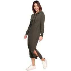 Abbigliamento Donna Abiti lunghi Be B197 Vestito midi con cappuccio - mocca