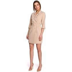 Abbigliamento Donna Abiti corti Style S254 Abito blazer con cintura con fibbia - nero
