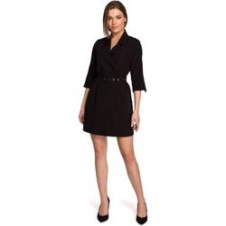 Abbigliamento Donna Abiti corti Style S254 Abito blazer con cintura con fibbia - verde