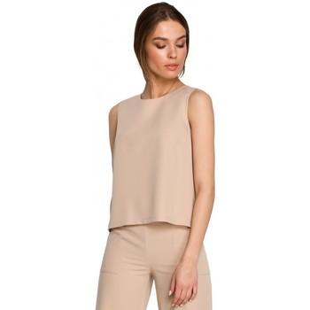 Abbigliamento Donna Top / Blusa Style S257 Camicetta senza maniche - nero